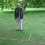 Labyrinth with rope in Hortus of Leyden, 2004