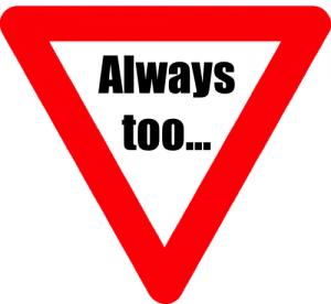 Always too sign